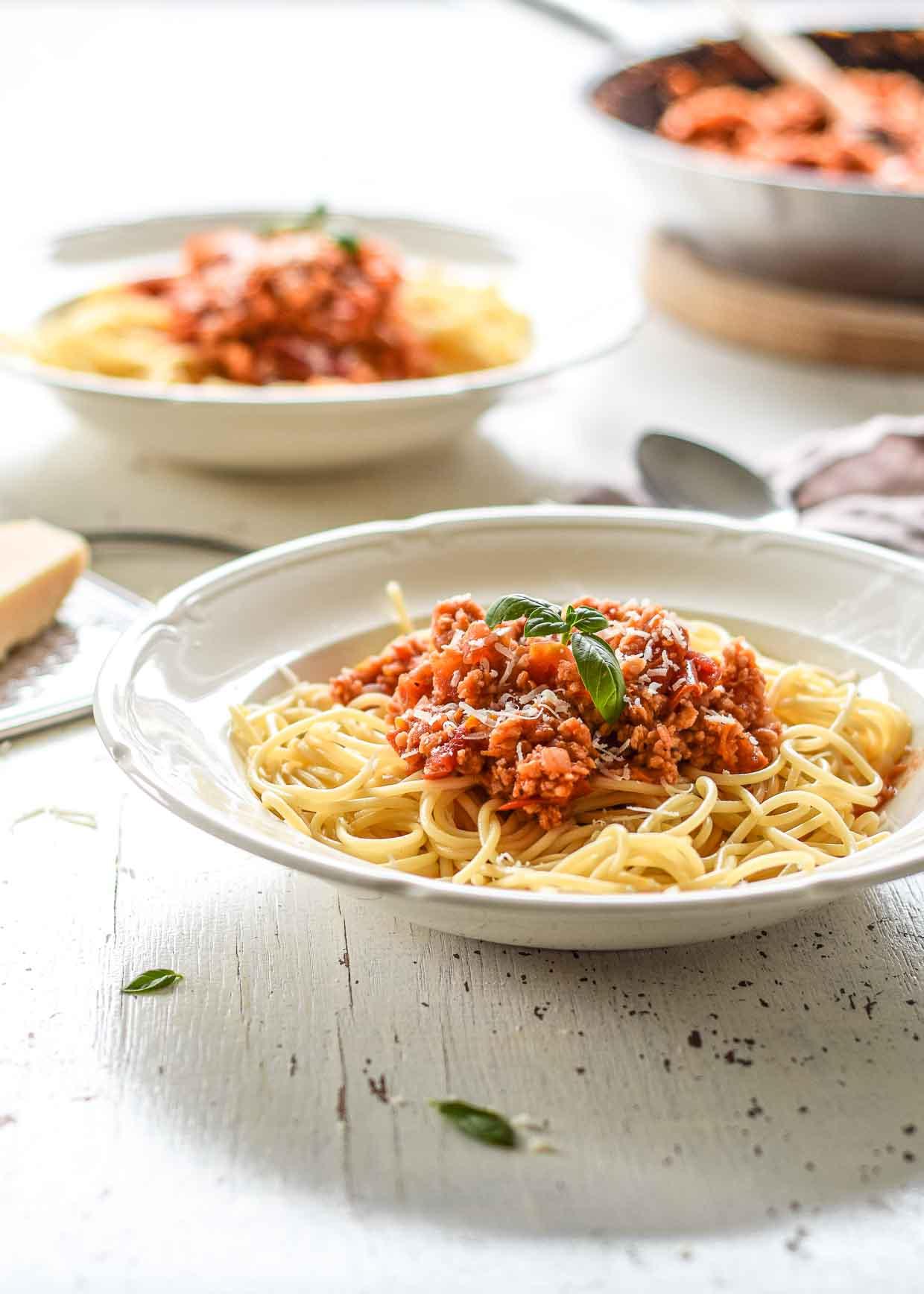 Spaghetti-Bolognese vegetarisch