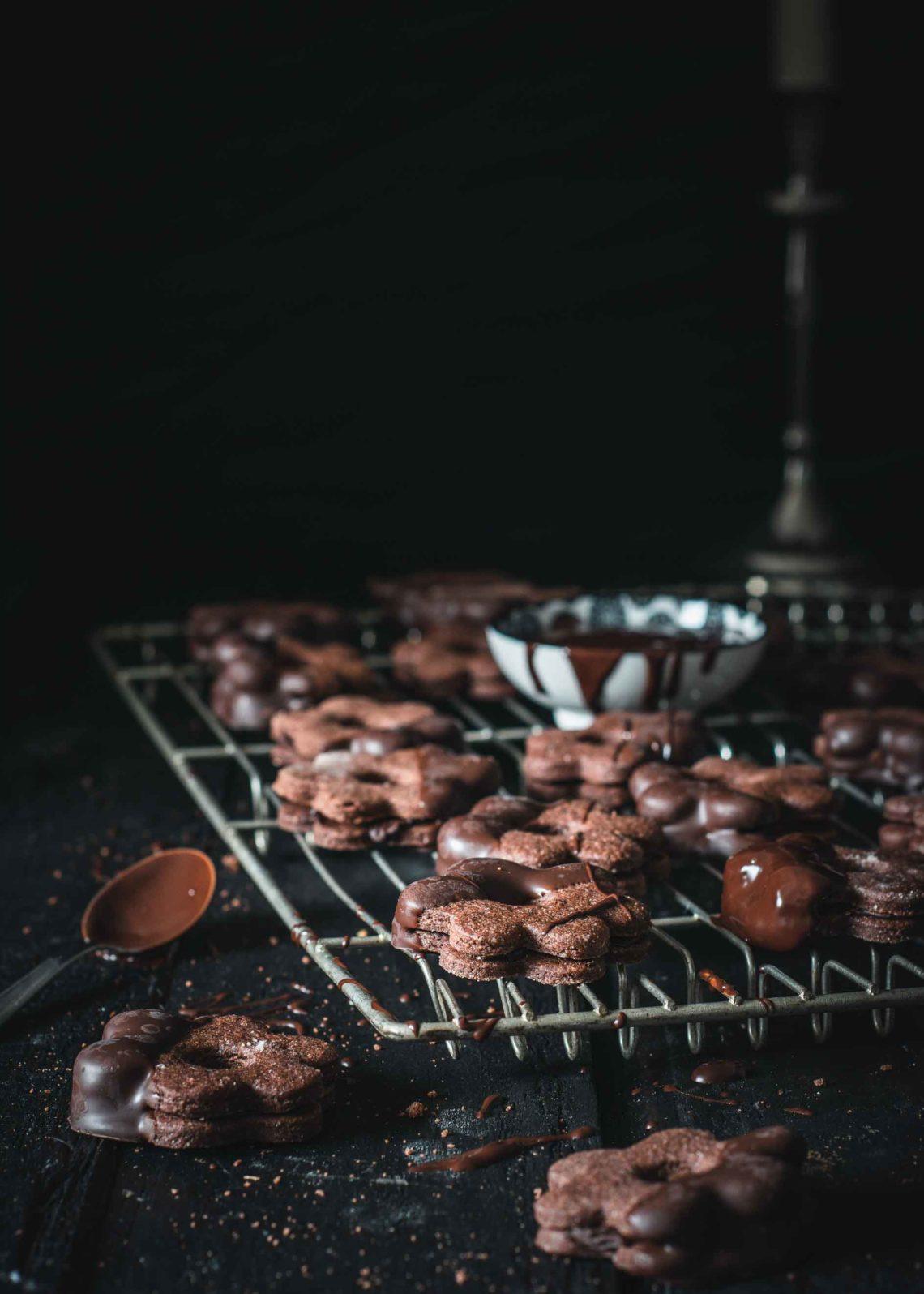 Schokoblumen schokoladige Plätzchen