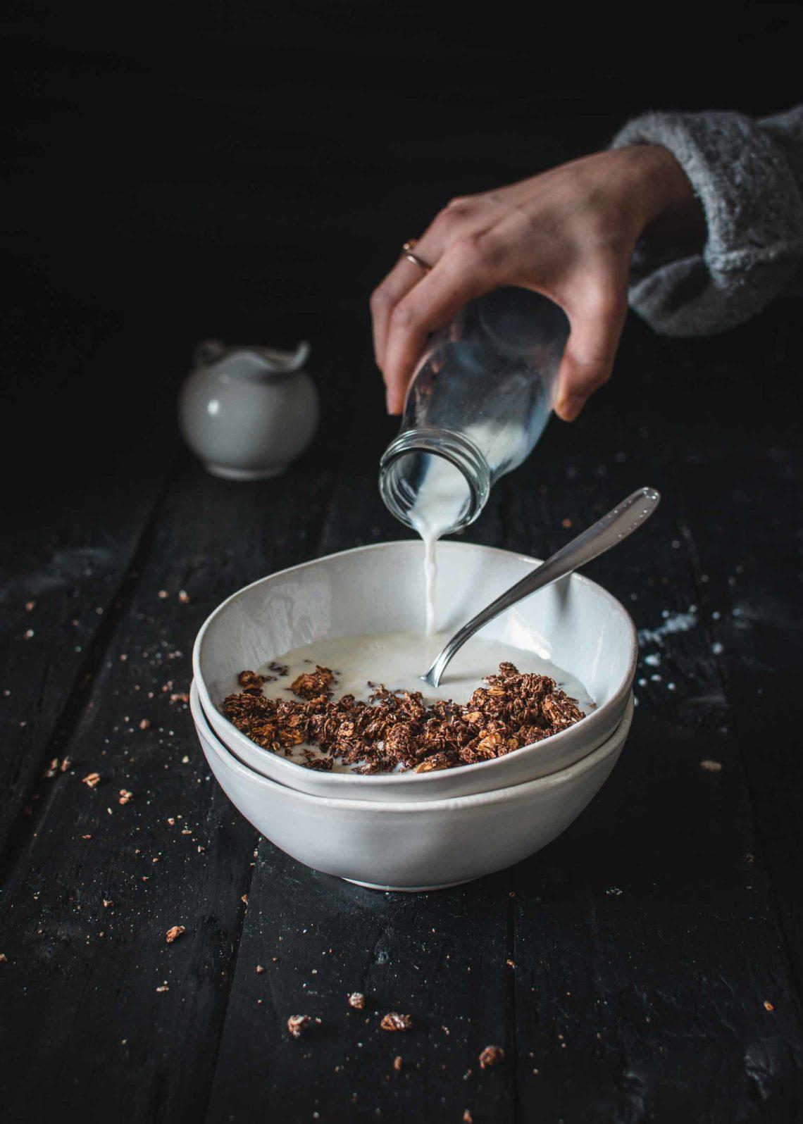 Granola mit Schokolade