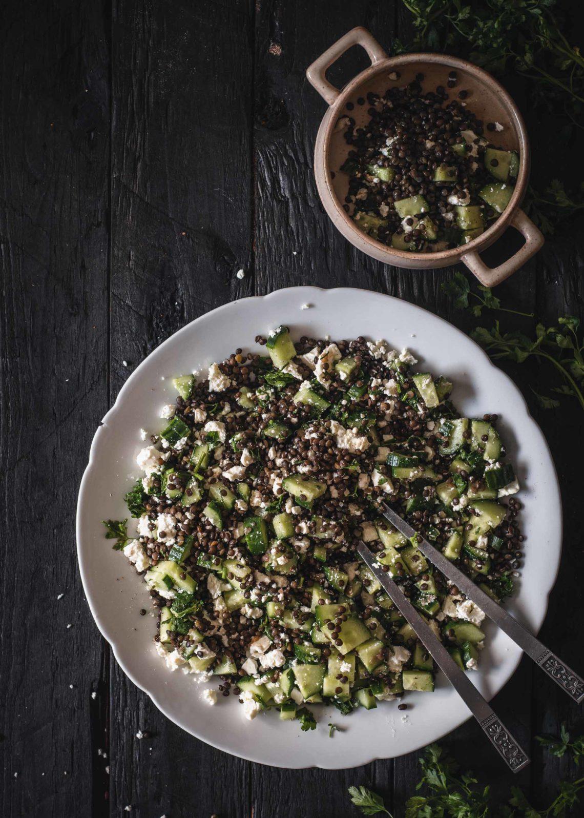 Salat mit Linsen
